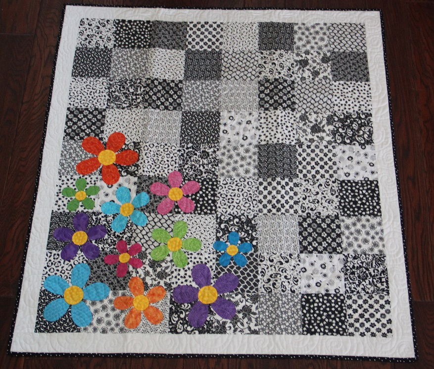 Colorful Flowers Quilt