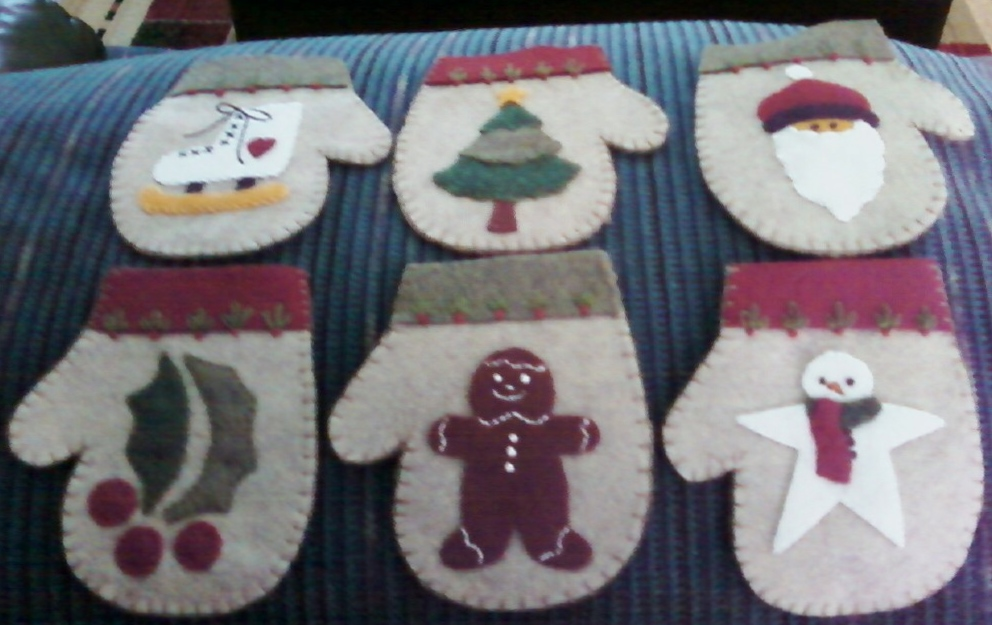 Christmas Mitten Ornaments