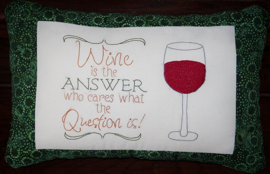 Wine Themed Pillow