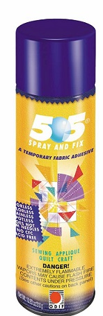 Spray and Fix 505 Temporary Fabric Adhesive - 5.6 OZ