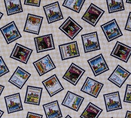 1 1/2 Yards - Quilt Across Texas 2013 First Class Postage Stamps