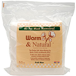 Warm & Natural Full Size Needled Cotton Batting