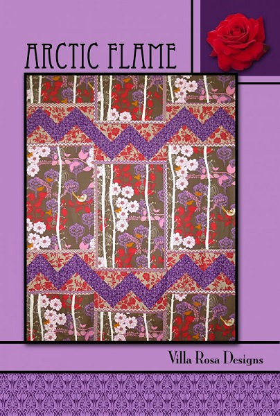 Villa Rosa Artic Flame Quilt Pattern Card