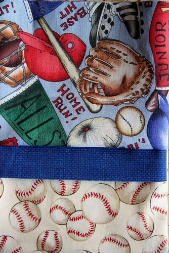 Baseball Inspired Pillow Case Kit