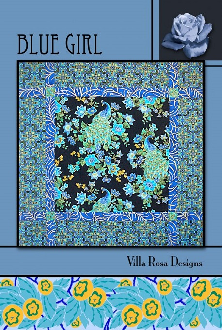 Villa Rosa Blue Girl Quilt Pattern Card