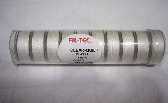 Clear-Quilt Class L Bobbins - White Cotton Thread