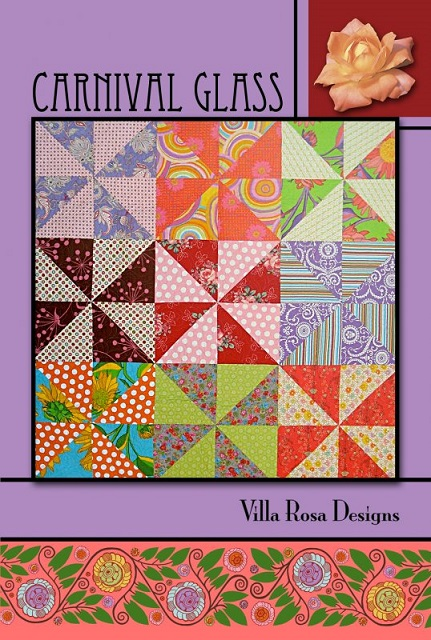 Villa Rosa Carnival Glass Quilt Pattern Card