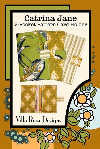Villa Rosa Catrina Jane 2-Pocket Pattern Card Holder