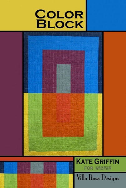 Villa Rosa Color Block Quilt Pattern Card