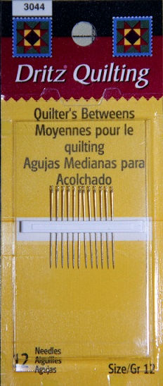 Dritz Quilting Quilters Betweens Needles - Size 12 (12 per pack)