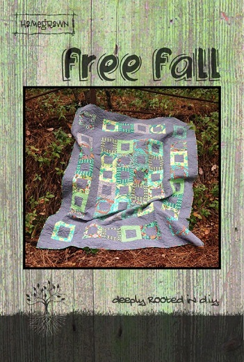 Villa Rosa Free Fall Quilt Pattern Card