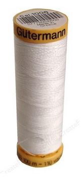 Gutermann 100% Natural Cotton White Thread