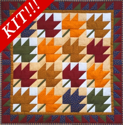 Leaves Wall Hanging Quilt Kit