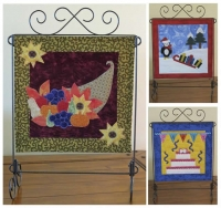 Fourth Seasonal Trio Wall Hanging Quilt Pattern