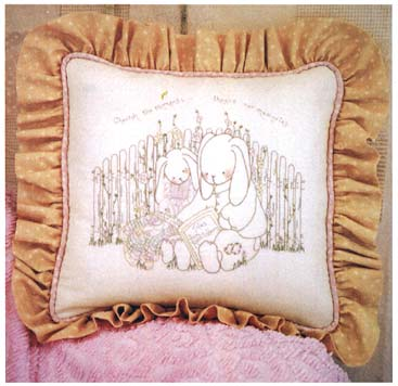 "Rabbits Haven Quiet Times 16"" Pillow Pattern"