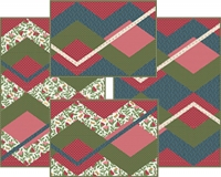 Sonata Placemats, Center Mat and Reversible Napkins Pattern