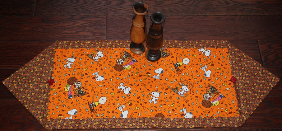 Peanuts Ready for Fall Table Runner