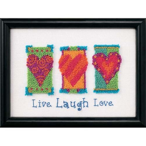 Live Laugh Love Punch Needle Kit