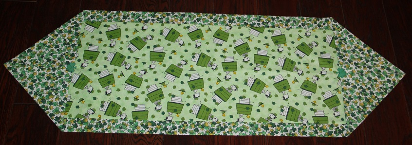 Peanuts Luck of the Irish Table Runner