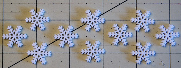 White Snowflake Decorative Buttons