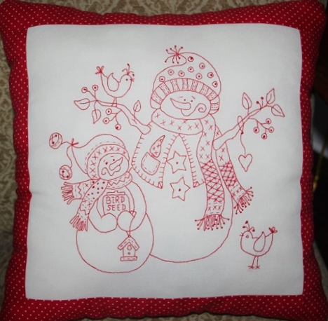 Snowmen Holiday Pillow