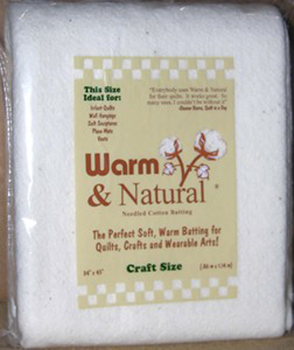 Warm & Natural Craft Size Needled Cotton Batting
