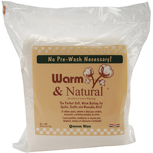Warm & Natural Queen Size Needled Cotton Batting