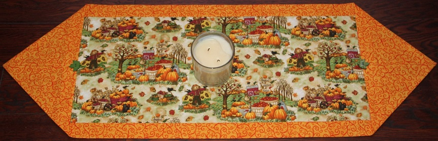 Debi Hron Autumn Themed Table Runner