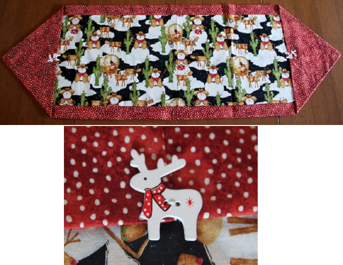 Southwest Snowmen Holiday Themed Table Runner